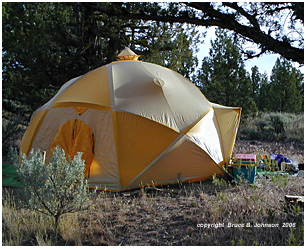 Meet a Gigantic Geodesic Dome by Mountain Hardwear and learn about Jim and Lou Whittaker & Snow Camping Delights near Bend Oregon
