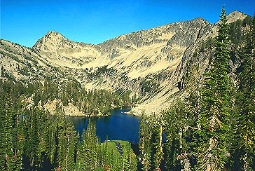 The Wallowa Mountains abound with gorgeous alpine glacially carved lakes such as Wallowa Lake, or small ones like Cached Lake